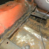 front Passenger seat - rear supports, hole at flange